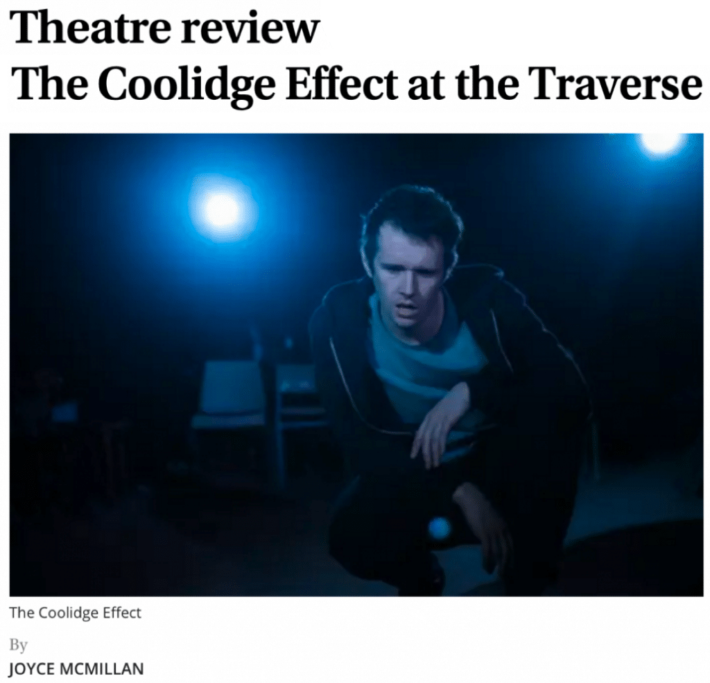 A crítica teatral The Coolidge Effect at the Traverse