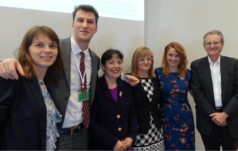 Conference organisers Blanka Magdic and Ivan Munjin with Mary Sharpe, Nataša Ropret, Haley Halverson and Darryl Mead
