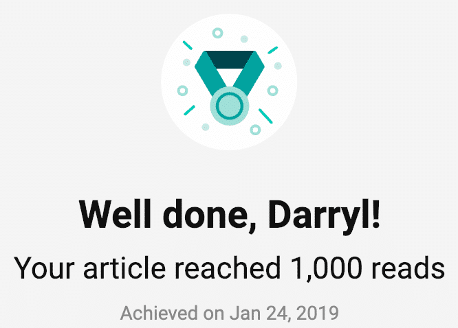 ResearchGate 1,000 reads