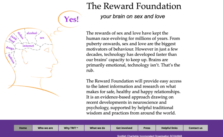 Originalna web stranica The Reward Foundation