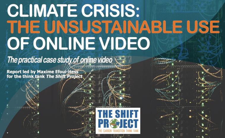 O uso insostenible do vídeo en liña