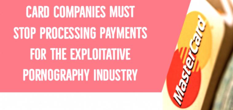 Компаније за кредитне картице морају престати обрађивати плаћања за експлоатациону порнографску индустрију